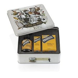 PRORASO Beard Care Tin WOOD & SPICE